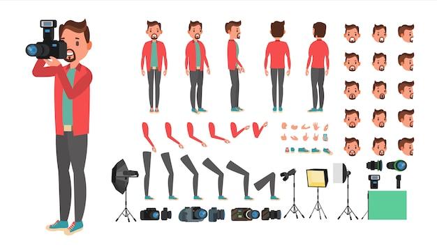 Set di caratteri del fotografo