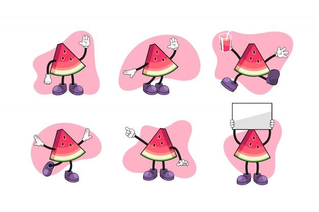 Set di caratteri del fumetto dell'anguria