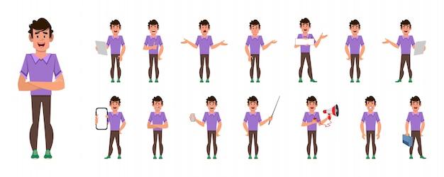 Set di caratteri del fumetto dell'uomo