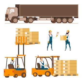 Set di caratteri dell'elemento dell'attrezzatura di consegna di stoccaggio
