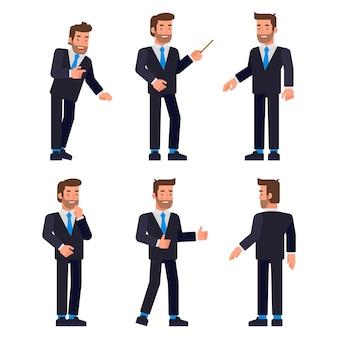 Set di caratteri dell'uomo d'affari,