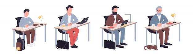 Set di caratteri della vita studentesca