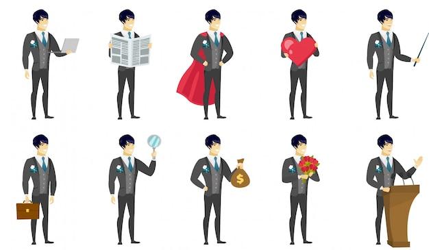 Set di caratteri dello sposo.
