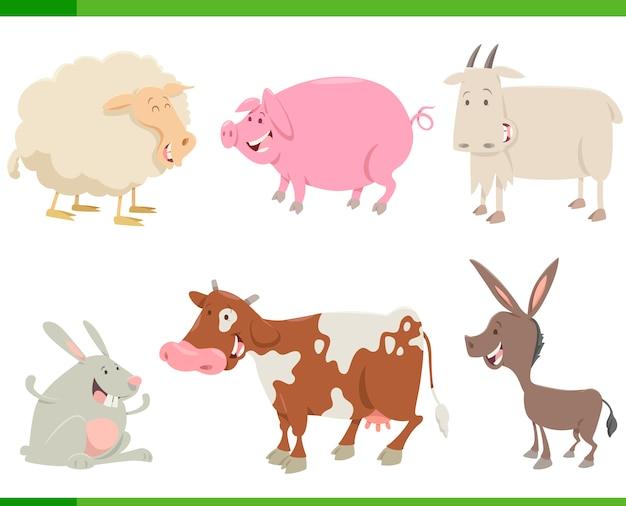 Set di caratteri di animali della fattoria