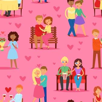 Set di caratteri di coppia in amore