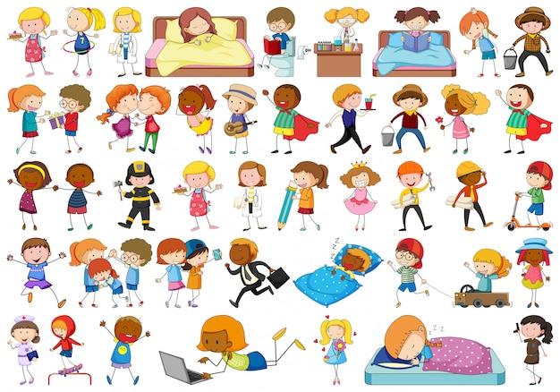 Set di caratteri di doodle