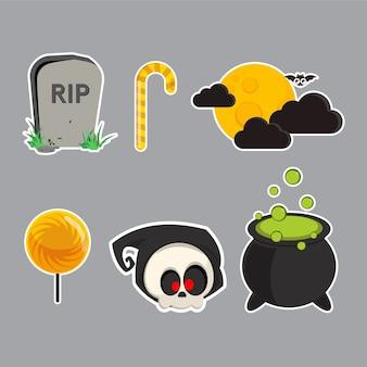 Set di caratteri di halloween.