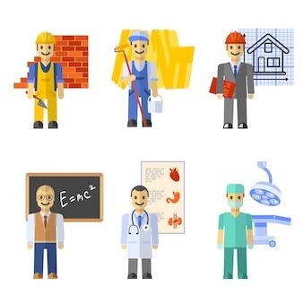 Set di caratteri di professione