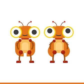 Set di caratteri di robot scarafaggio