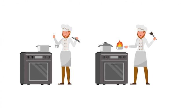 Set di caratteri donna chef