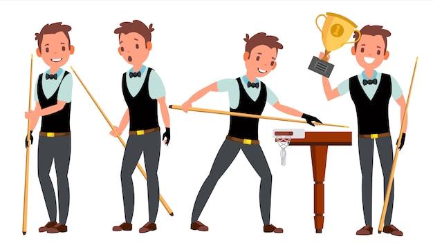 Set di caratteri giocatore maschile snooker
