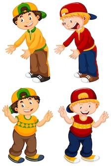 Set di caratteri ragazzo urbano