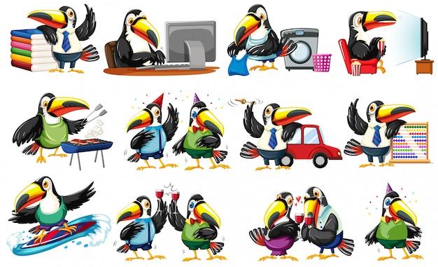 Set di caratteri toucan