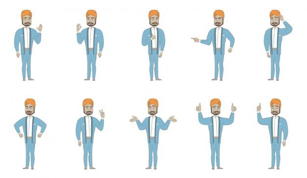 Set di caratteri uomo indiano