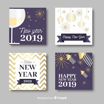 Set di carte 2019 del nuovo anno