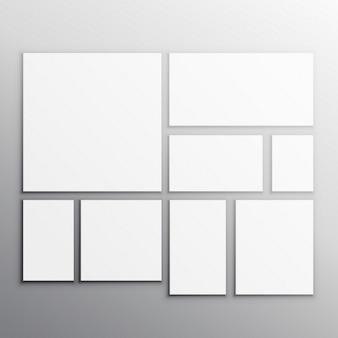 Set di carte bianche mockup