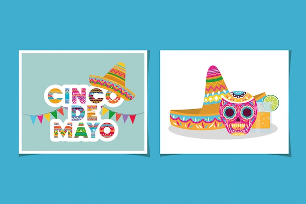Set di carte cinco de mayo