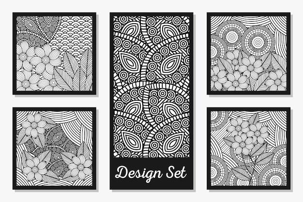 Set di carte decorative in bianco e nero