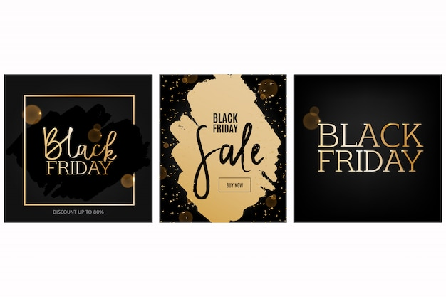 Set di carte del black friday.
