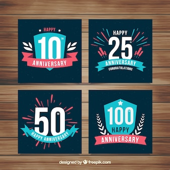 Set di carte di anniversario di matrimonio con numeri