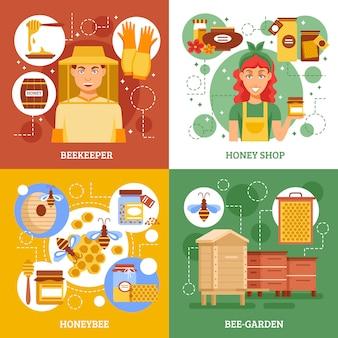 Set di carte di apicoltura