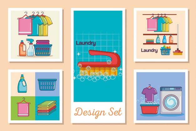 Set di carte di bucato
