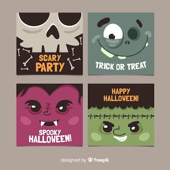 Set di carte di halloween