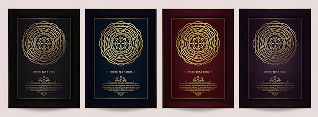 Set di carte di invito vintage di lusso