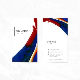 Set di carte di nome per l'insieme di vettore di società di design