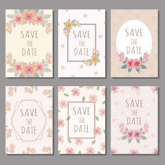 Set di carte di nozze