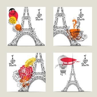 Set di carte di parigi