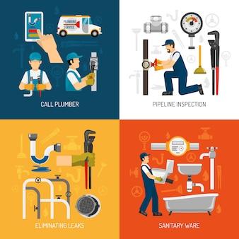 Set di carte di servizio idraulico