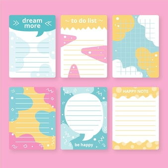 Set di carte e note per album
