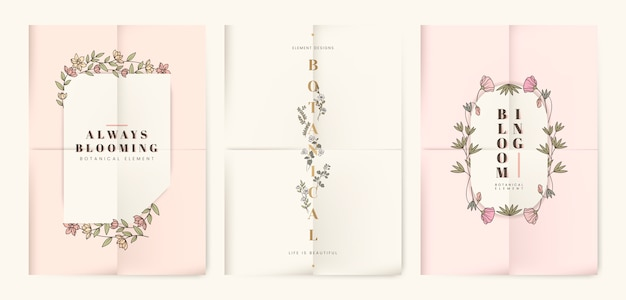 Set di carte floreali botanici