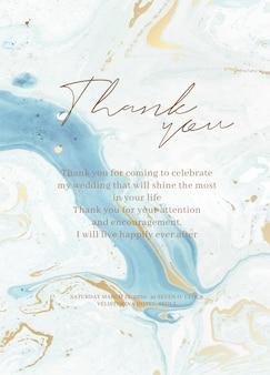 Set di carte invito a nozze in marmo.