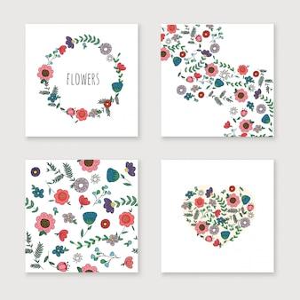 Set di carte invito matrimonio.