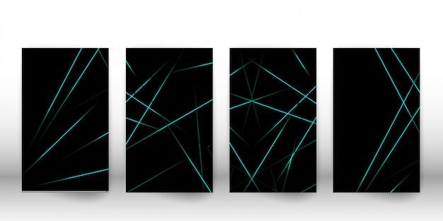 Set di carte lineare astratta