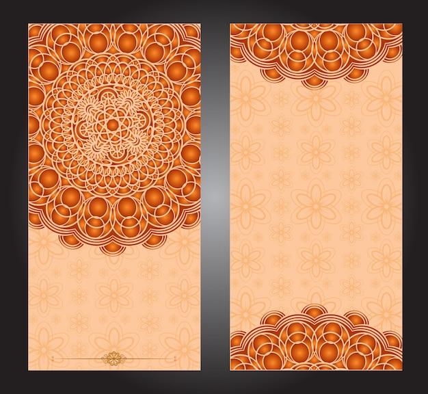 Set di carte mandala islamico