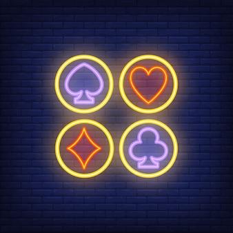 Set di carte si adatta al segno al neon