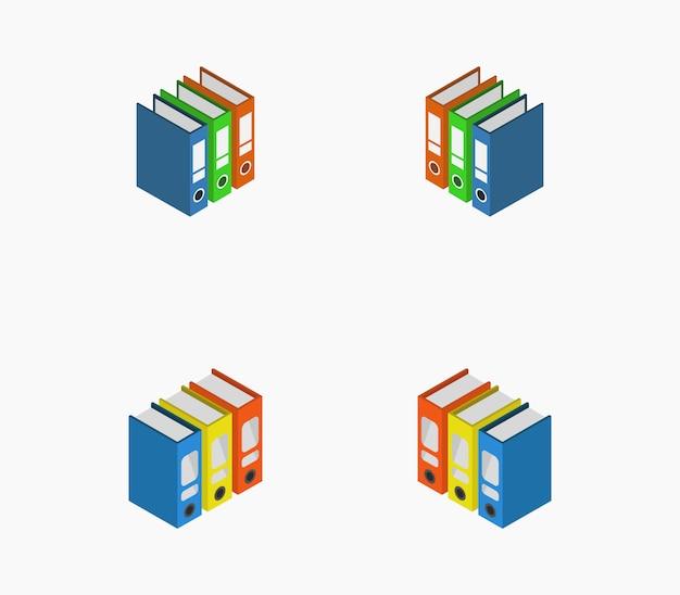 Set di cartelle isometriche