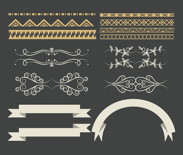 Set di cartoon nastro decorativo