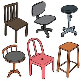 Set di cartoon sedia
