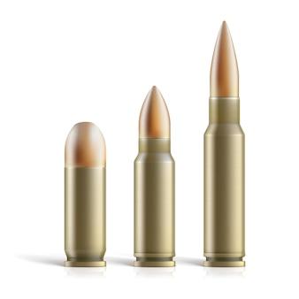 Set di cartucce. proiettili di diverse dimensioni