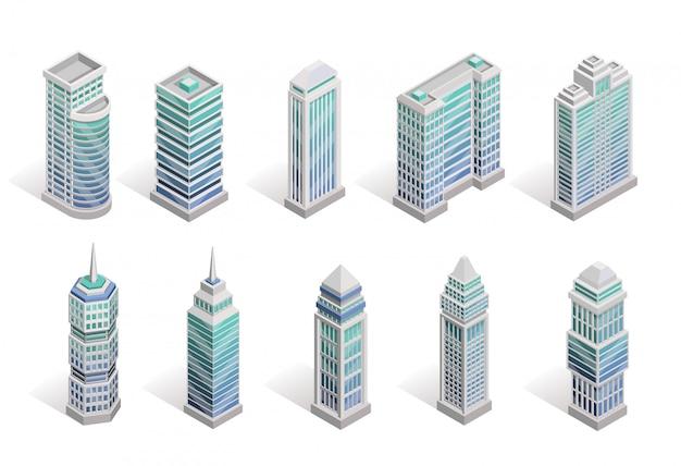 Set di case di città