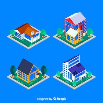 Set di case isometriche