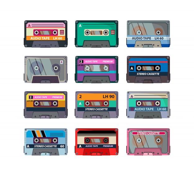 Set di cassette stereo diverse