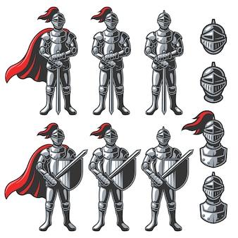 Set di cavalieri di colore