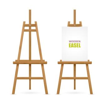 Set di cavalletti per artista in legno