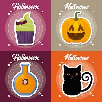 Set di celebrazione di halloween