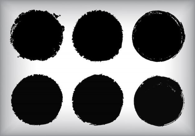 Set di cerchi grunge